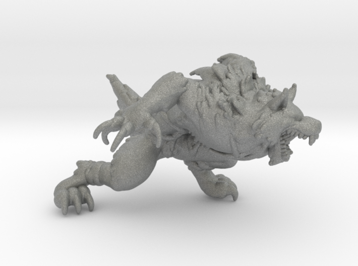 Werewolf DnD 1/60 miniature for games and rpg 3d printed