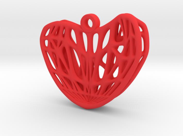 Whitney Umbrella Heart Earring (001) 3d printed