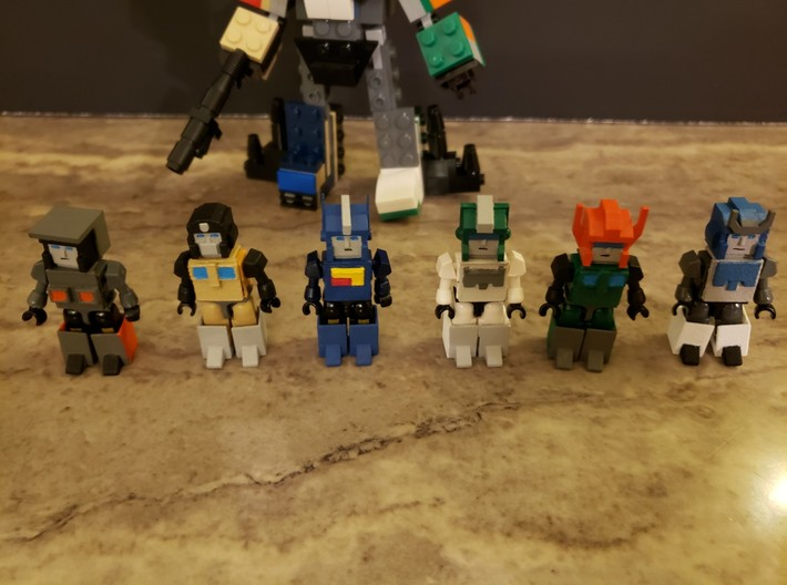 Heads for Trainbot Kreons (Set 2 of 2) 3d printed Finished head and armor