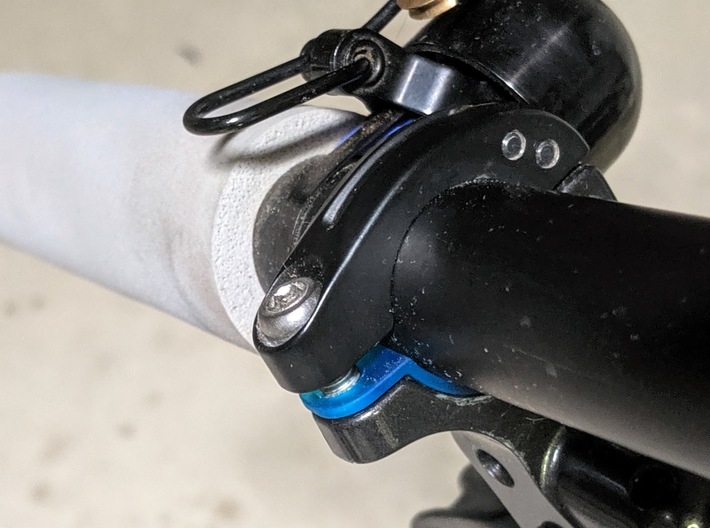 Replacement Shimano I-Spec II BL Band Adapter Shim 3d printed BL Band adapter on Shimano M8000 XT I-Spec II Brake Levers