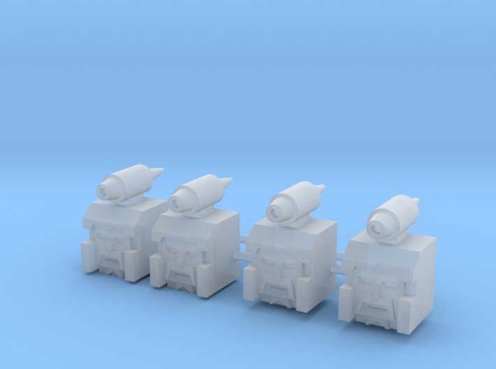 Heads for Sweep Kreons (Set 2 of 2) 3d printed
