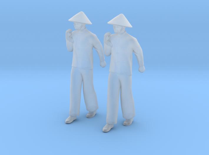 Chinese Man Walking 3d printed