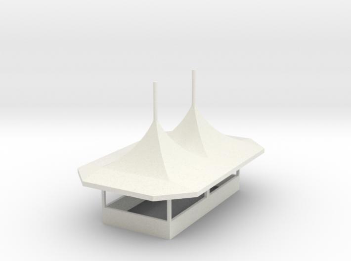 modern Gametent ver.2/2 - 1:87 (H0 scale) 3d printed