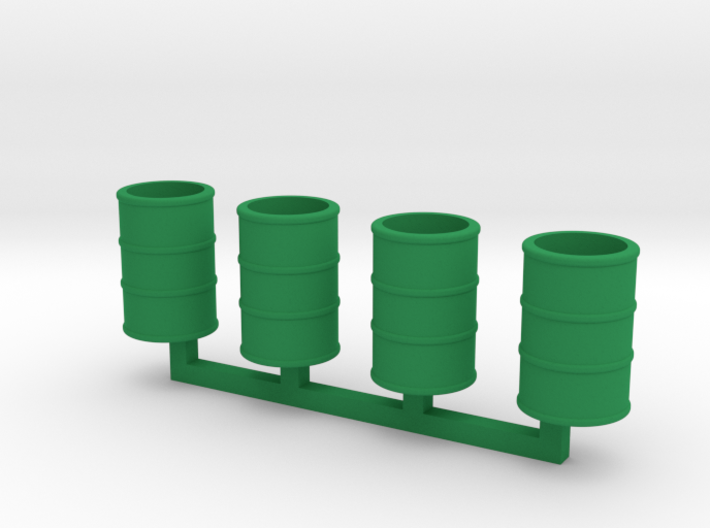 Steel Drums 55 Gallon Open 3d printed