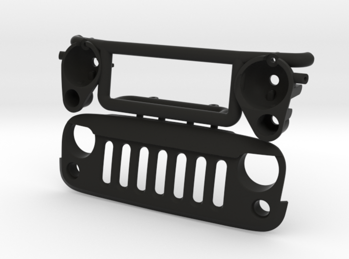 AW20007 Wraith 1.9 ANGRY Grill & Mount 3d printed