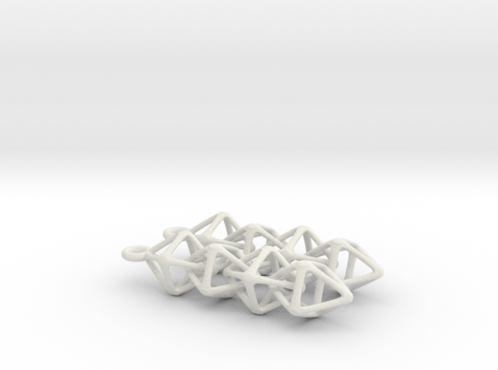 Octahedralink Earrings 3d printed