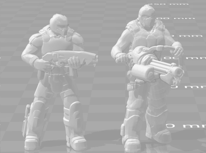 Gears of War Heavy soldier gnasher miniature games 3d printed