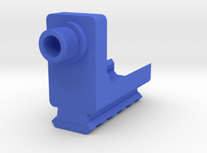 VP9 Frame Mounted Barrel Adapter (14mm-) with Rail 3d printed