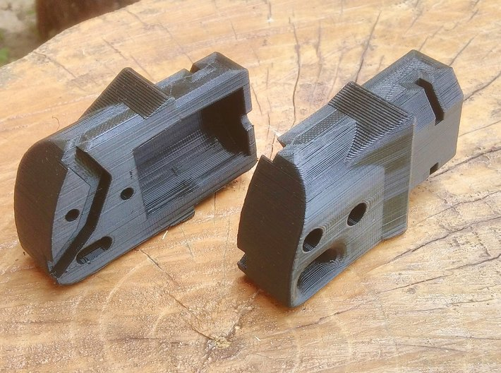 Modulus Shoulder Stock Adapter for Nerf Kronos 3d printed