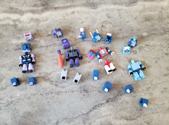 Armor for Galvatron,Scourge,Cyclonus Kreons (1/2) 3d printed Example of how heads, vests, legs are added to Kreons