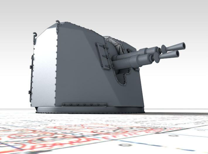 "1/150 French 37mm/70 (1.46"") AA Gun Model 1935 x6 3d printed 3d render showing product detail"