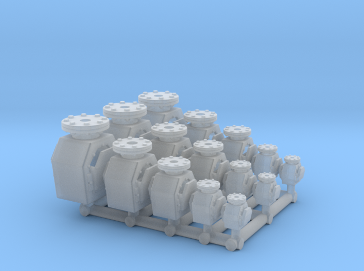 3X 5 Tank vent check valve - 1:50 3d printed