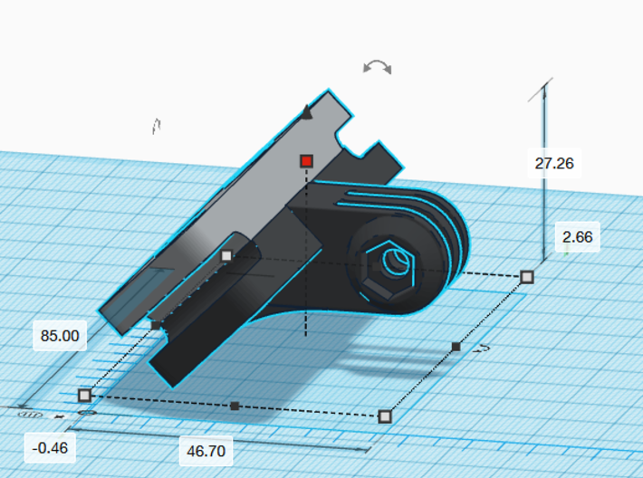 Saddle Rail to GoPro Mount 3d printed