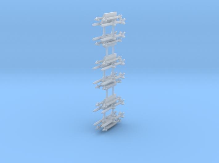AIM-9X/AIM120 Sidewinder/AMRAAM Combination 4-Rack 3d printed