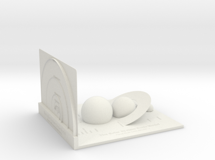 The Solar System Scale Model (Unpainted) 3d printed