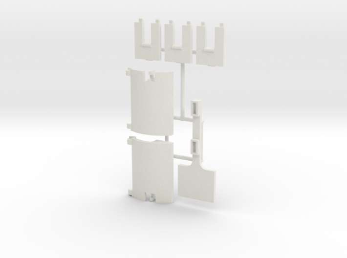 Skystriker Landing Gear Clips and Covers 3d printed