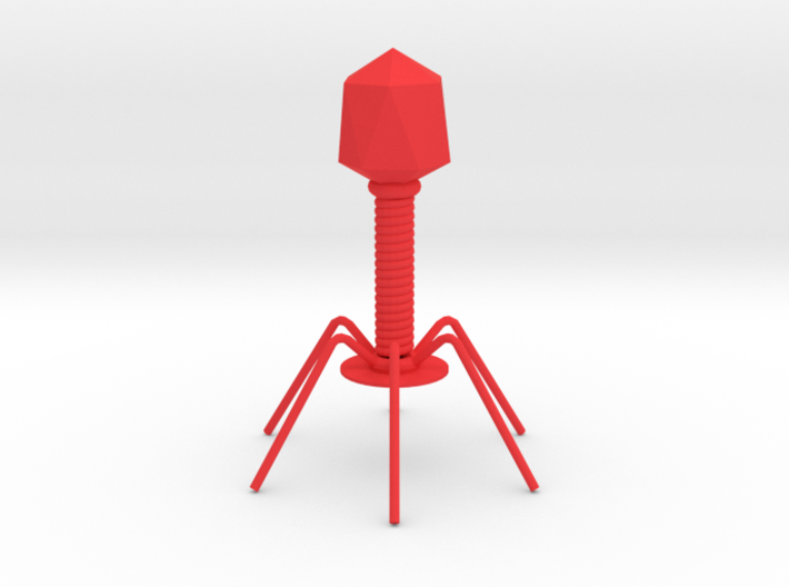 bacteriophage 3d printed