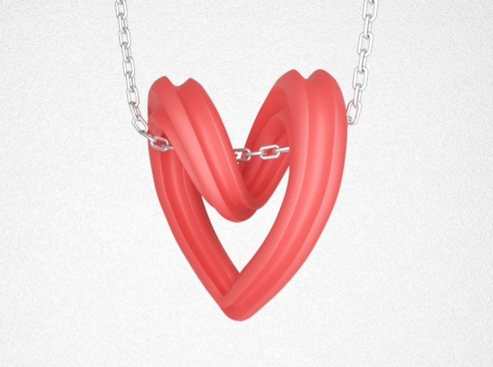 Heart Pendant Type A 3d printed