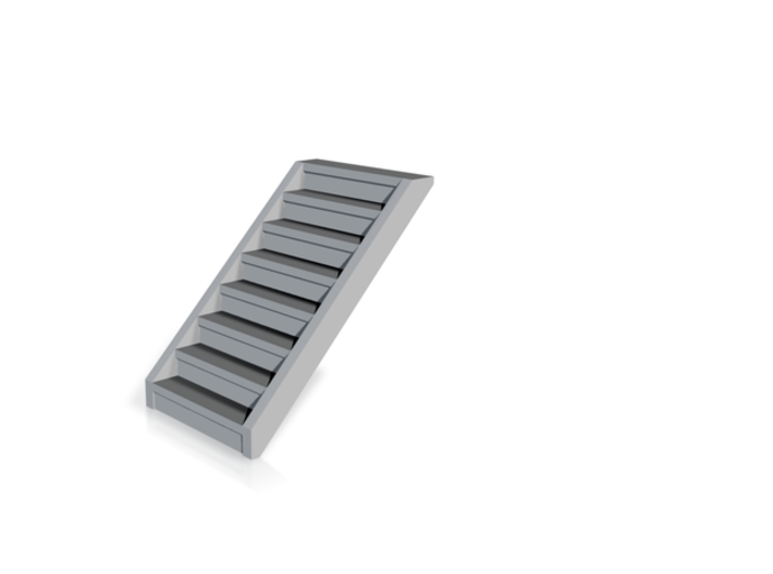 HO 24x Concrete Stairs 3-10 steps 3d printed Example of a single 8-step stairs