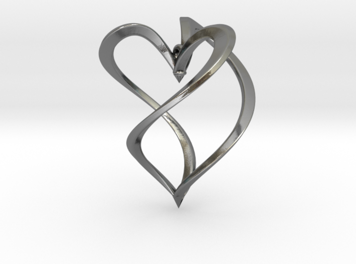 Earring heart 3d printed