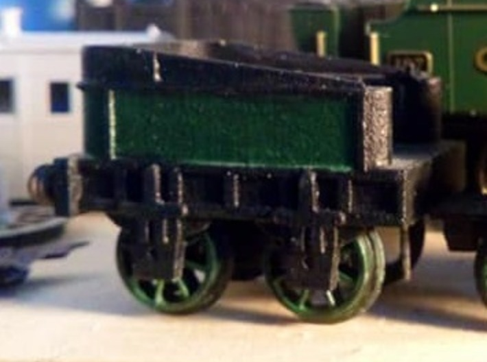 00 Scale Northumbrian Tender Scratch Aid 3d printed WNV painted (image kindly supplied by a customer).