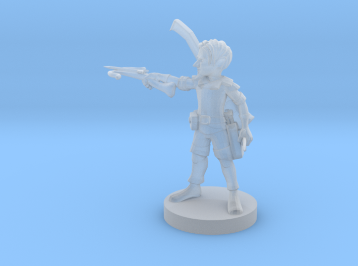 Gnome Male Bard 3d printed