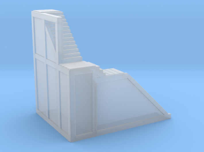 Glacier Town (Left side) Stairs 3d printed