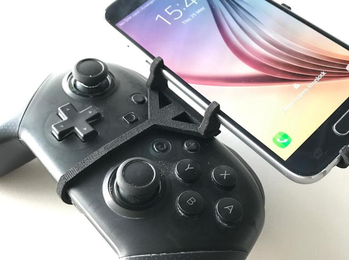 Nintendo Switch Pro controller & Asus ROG Phone II 3d printed Nintendo Switch Pro controller - Front Rider - Front View