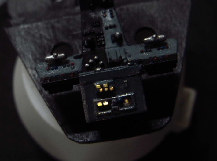 YT1300 CABIN SEATS CONSOLE FLOOR MPC/ERTL 3d printed Millennium Falcon cabin console lighted.