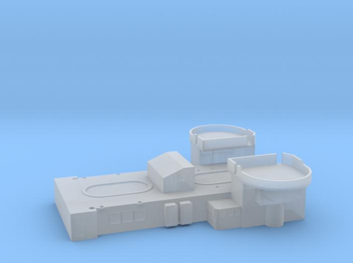 1/600 HMS Barham Superstructure Amdiship 3d printed