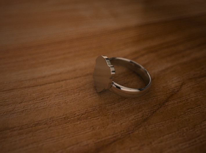 Pikabu Ring Silver 6.5size 3d printed