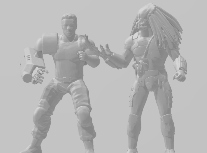 Predator No Mask Miniature for scifi games and rpg 3d printed