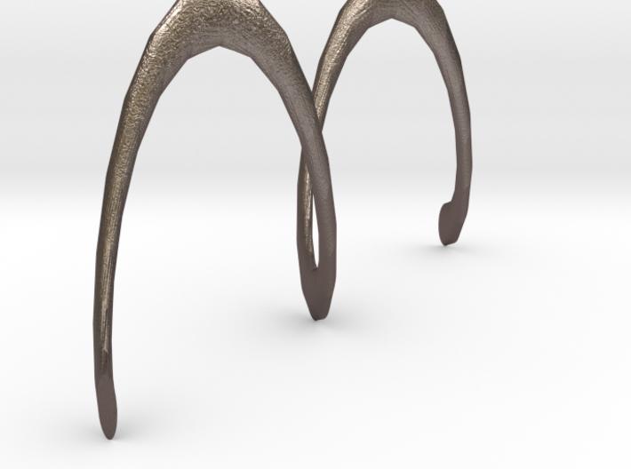 Spiral Earring 3d printed