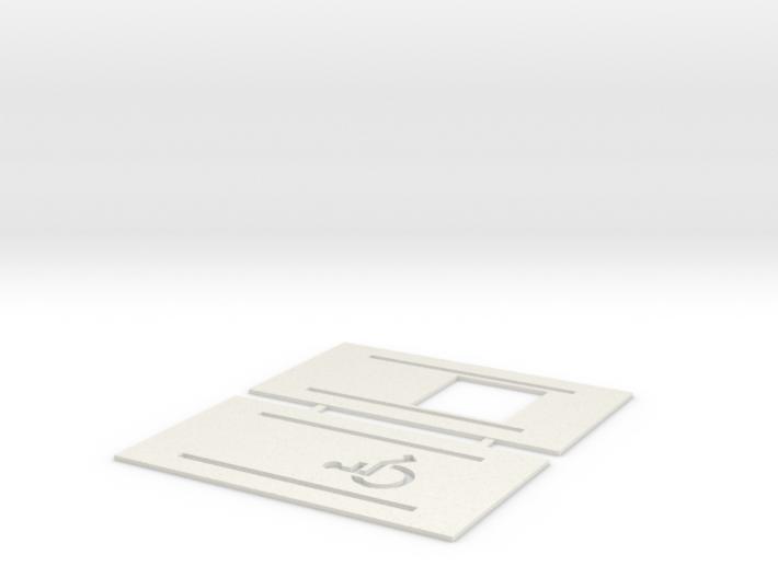 Handicap Parking Templates (HO) 3d printed Part # HP-001