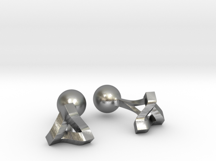 Penrose Triangle Cufflinks 3d printed