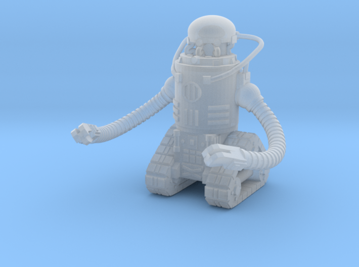 28mm Wastefall cyber brain robot 3d printed