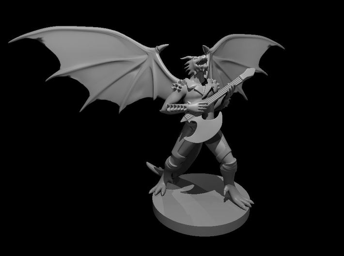 Dragonborn Male Bard with Axe Guitar 3d printed