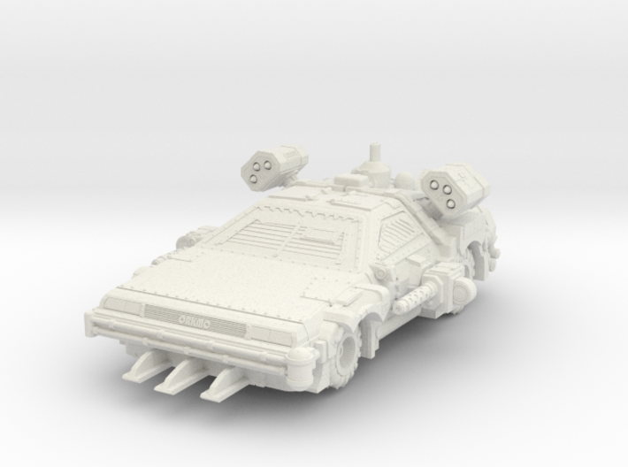 SpaceOrks Back in Time Delorkean Hotrod 3d printed