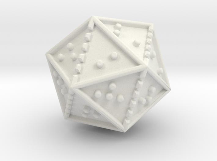 Braille Twenty-sided Die d20 3d printed