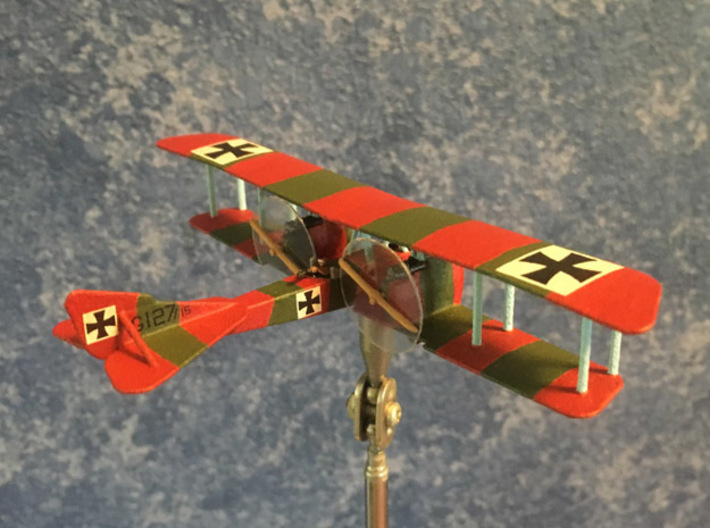 Rumpler G.II 3d printed Photo and paint job courtesy Mike Werner