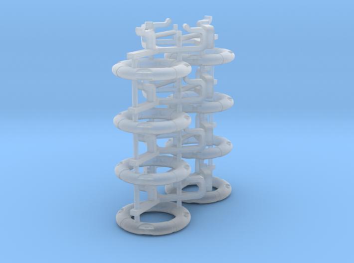 Life ring buoy 75 cm - 1:50 - 8X 3d printed