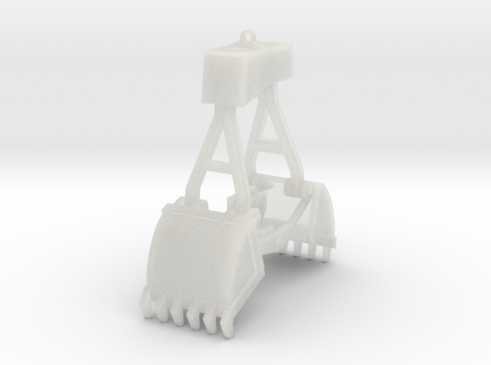 ClamShell Bucket 8' 3d printed