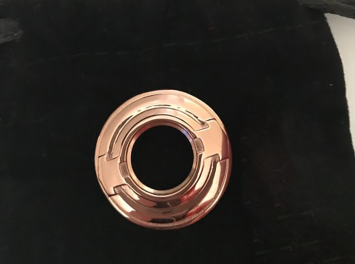 Tron inspired disc pendant 3d printed