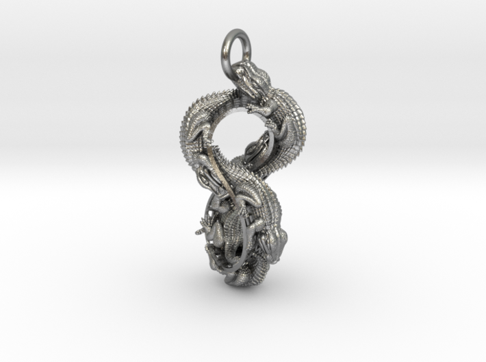 Reptile Möbius Pendant 3d printed