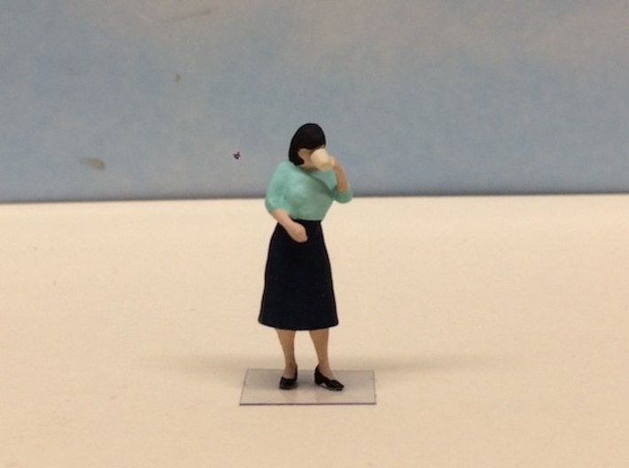 Female Drinking Coffee 1940's 3d printed