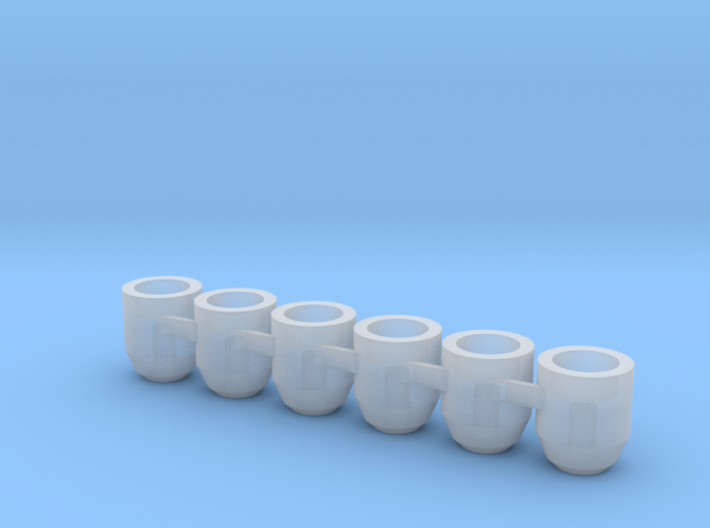(6) 5mm Flight Stand Magnet Cup 3d printed