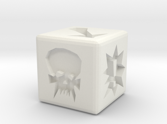 Blood Bowl Block Dice 3d printed