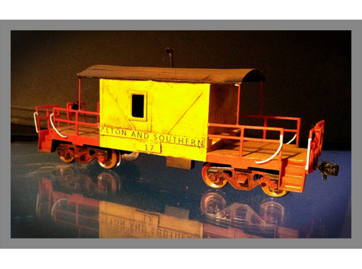 HO A&S Transition Caboose, Mythical 3d printed This is the mythical transition caboose