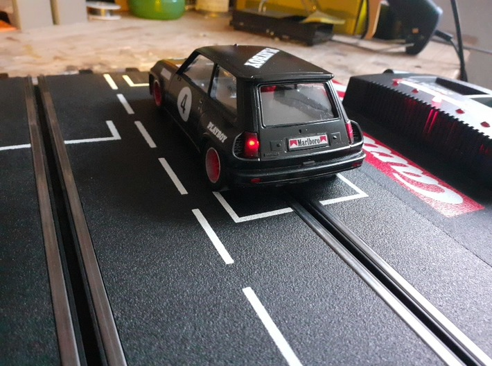 Renault 5 Turbo Rally Slotcar BRM Camber System 3d printed