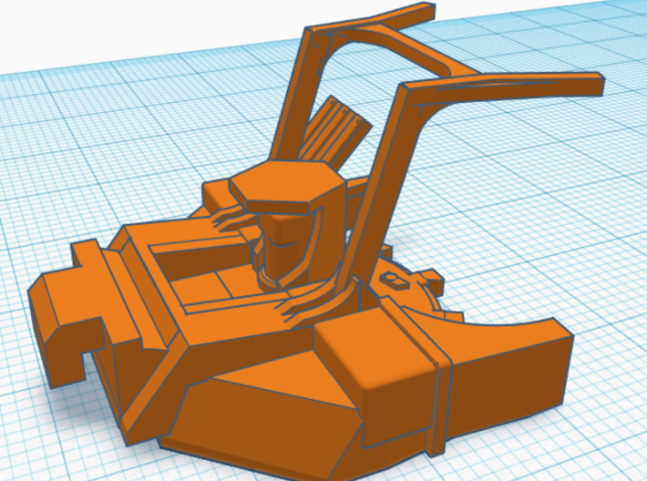 1/87th Forestry Skid Steer Disc Mulcher head 3d printed